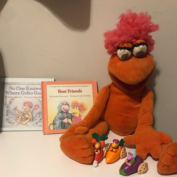 Vintage Fraggle Rock Sababa Toys and books
